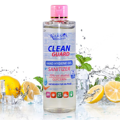 Clean Guard Hand Hygiene Gel Sanitizer 70% alcohol with Mint & Lemon 250 ml