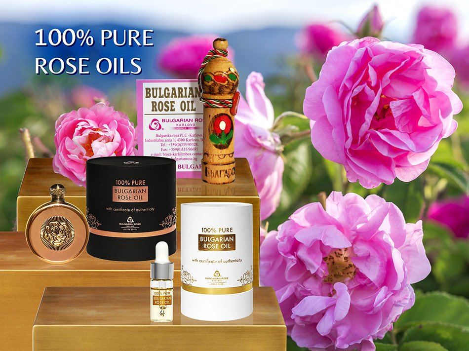 100% Pure Rose Oils