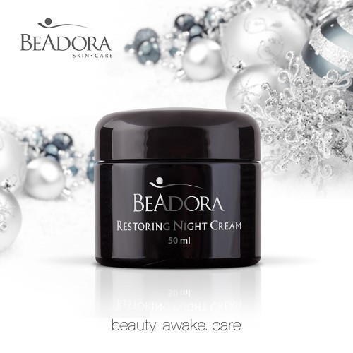 Restoring Night Cream BeAdora with Rose water & Hyaluronic acid