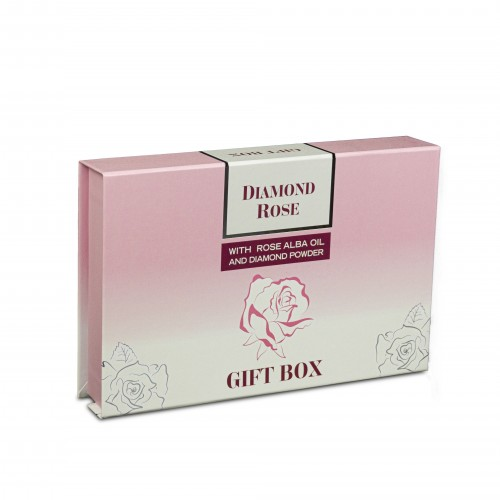 Gift set Diamond Rose with Perfume 15 ml, 2 Rose glycerin soaps and Day & Night cream serum for dry skin.