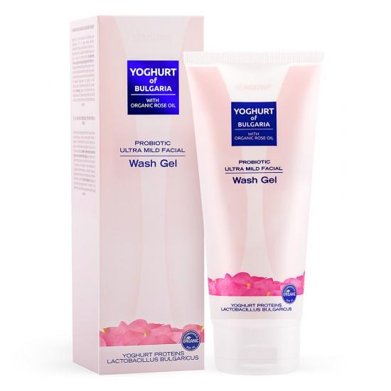 Probiotic ultra mild Facial Wash gel Yoghurt of Bulgaria with Organic Rose oil