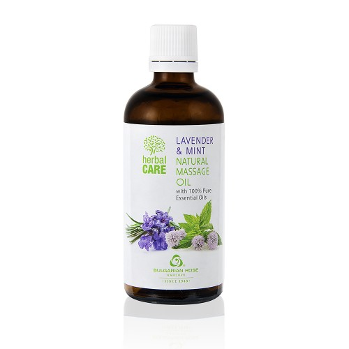 Natural Massage oil Anti-stress and Relax with Lavender & Mint oil