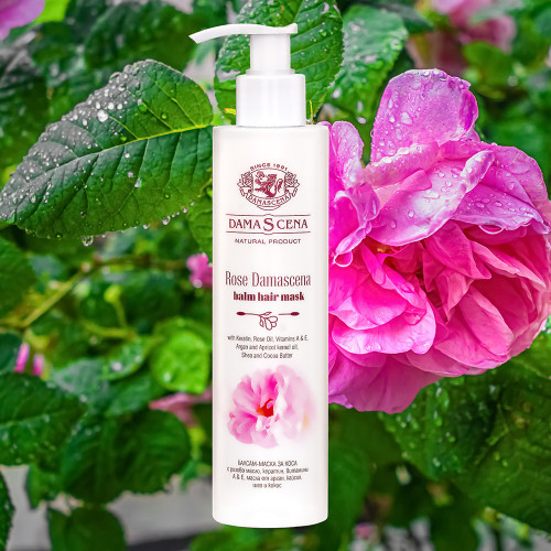 Hair Mask Rose Damascena with Rose oil and Keratin