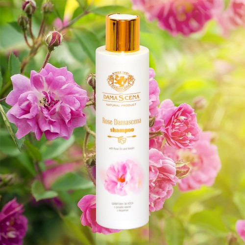 Hair Shampoo Rose Damascena with Rose oil and Keratin