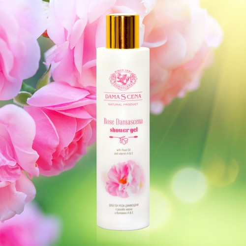 Shower gel Rose Damascena with Rose oil and Vitamins A & E