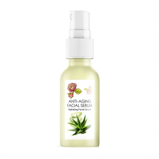 Anti-Ageing face Serum Naturel with Rose oil and Calendula extract 100% Natural