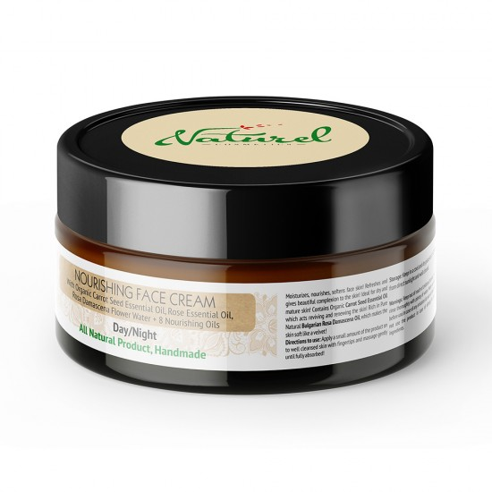 Rich Nourishing face cream Naturel with Rose oil and Organic Carrot oil 100% Natural