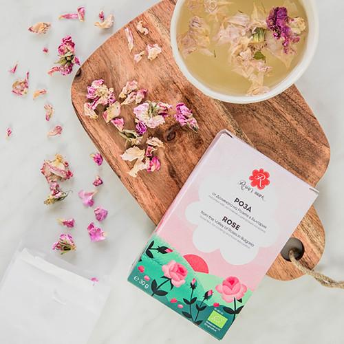Organic Rosa Damascena Tea Rose Petals Rosey's Mark