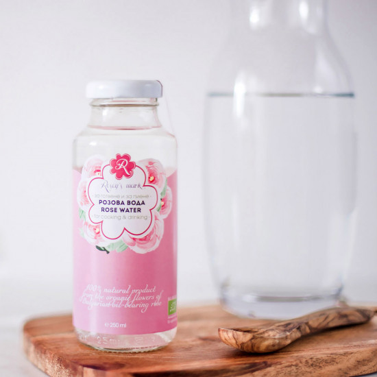 Organic Rose water for Cooking Rosey's Mark