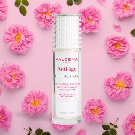Anti-age Lift Action Cream Serum Valcena Paris with Rose oil