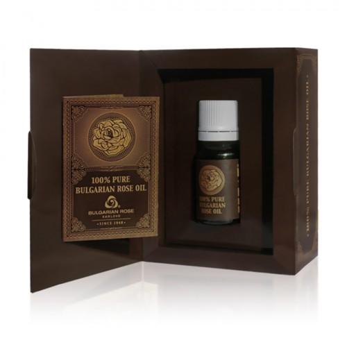 100% Pure original Bulgarian Rose oil (otto) 5 gr glass bottle in paper box