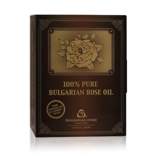 100% Pure original Bulgarian Rose oil (otto) 10 gr glass bottle in paper box