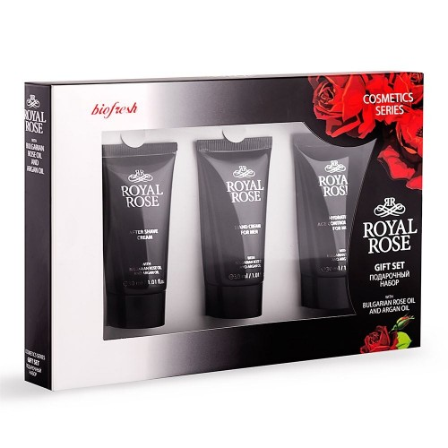 Travel Gift Set Royal Rose for Men - Age Control Cream, Hand cream and After Shave