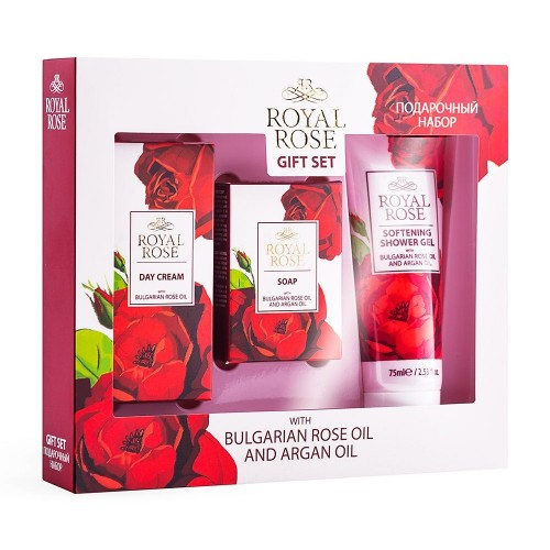 Travel Gift Set Royal Rose - Day Cream, Cream Soap & Shower Gel