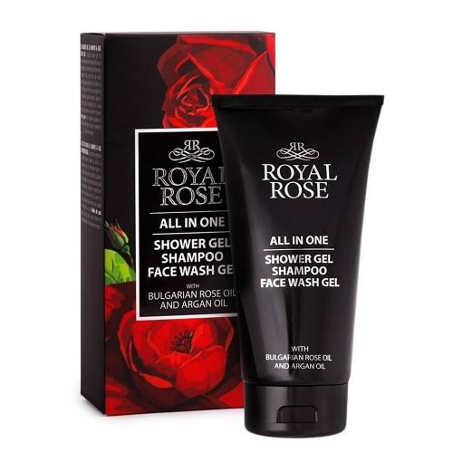 All in one - Shower gel, Shampoo & Face Wash gel for Men Royal Rose