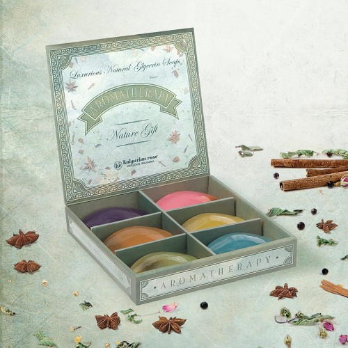 Aromatherapy soaps Gift box of 6