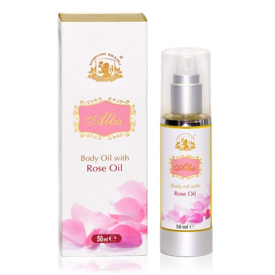 Body oil with Rose absolute