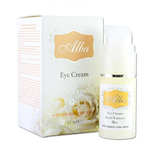 Eye contour cream Alba with Organic Rose water & Snails extract