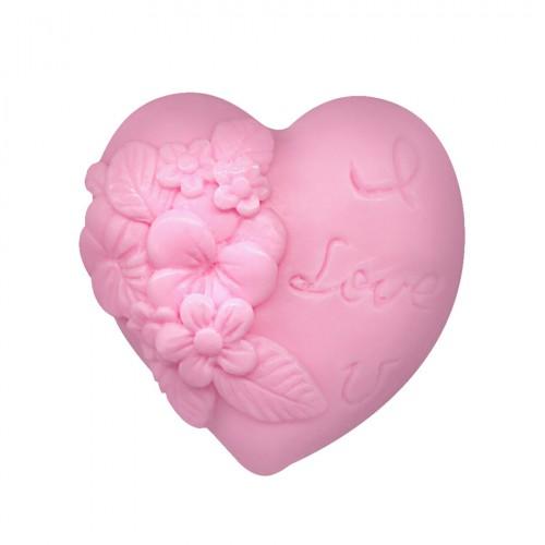 Handmade decorative soap Heart in love - Pink