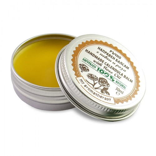 Handmade 100% Natural Calendula balm with Rose oil
