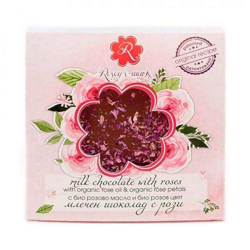 Milk Chocolate with Rose petals Rosey's Mark