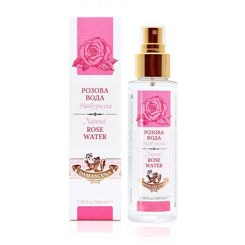 Natural Rose water Damascena 100 ml with a spray