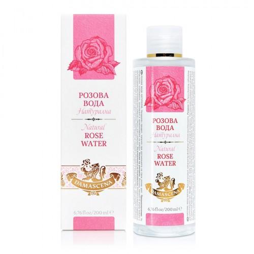 Natural Rose water Damascena 200 ml in a box