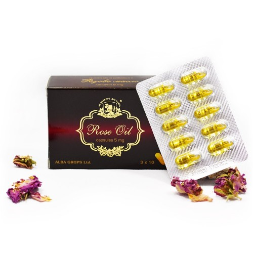 Organic Rose oil Capsules