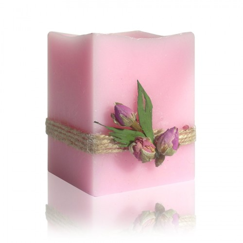 Rose blossom candle