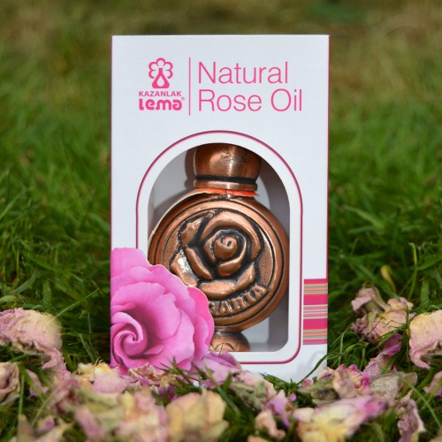 100% Natural Bulgarian Rose oil (otto) 1.0 gr in metal container