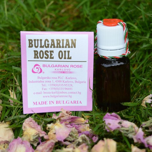 100% Pure original Bulgarian Rose oil (otto) 10 gr glass bottle