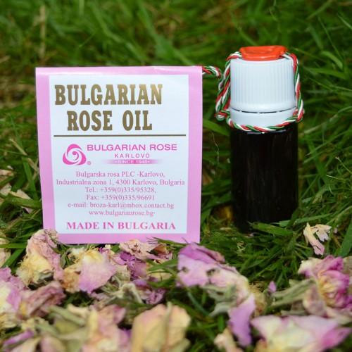 100% Pure original Bulgarian Rose oil (otto) 5 gr glass bottle