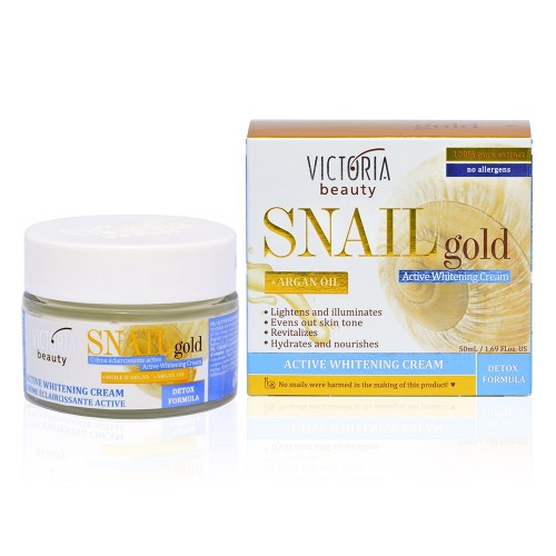 Snail Gold Whitening Cream with Snail extract & Argan oil
